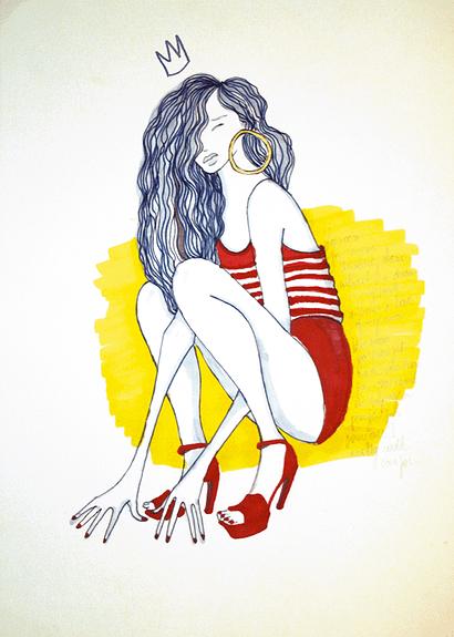 """Eva Uviedo: aquarela """"As Mina IV""""."""