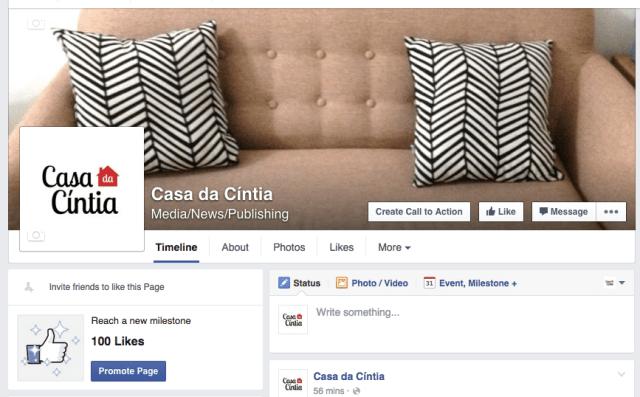 Blog da Casa da Cíntia no Facebook.