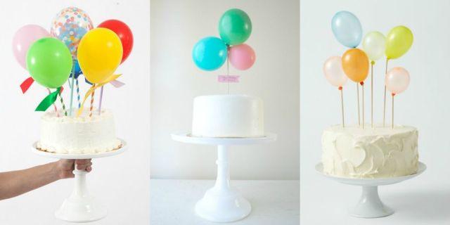 Tutoriais e download de topos de bolo DIY para fazer em casa com bexigas e balões.