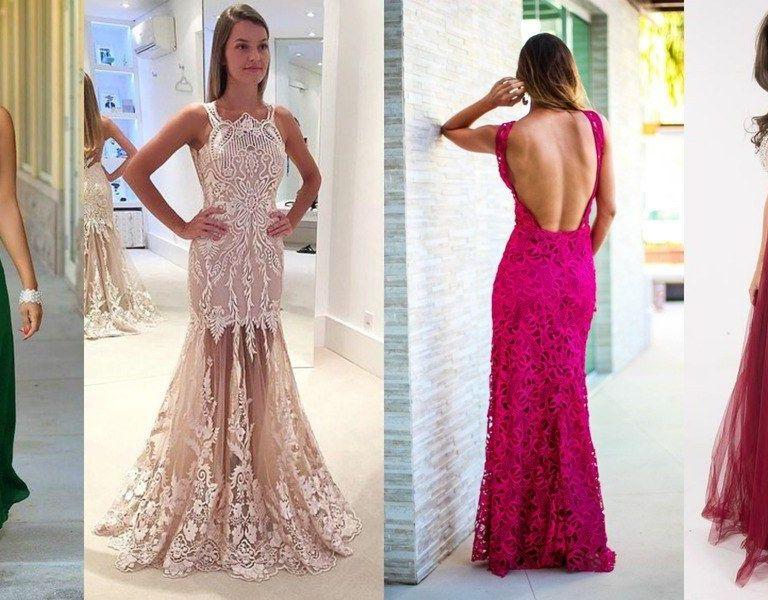 Tendências em vestidos de festa