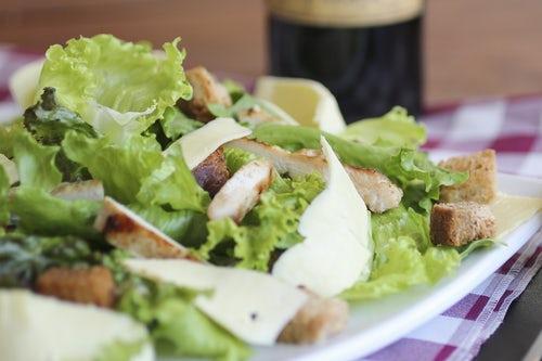 Receita de salada Caesar