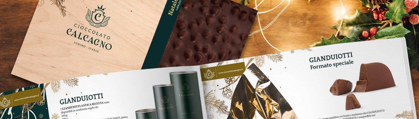 Cioccolato Calcagno catalogo Natale 2019