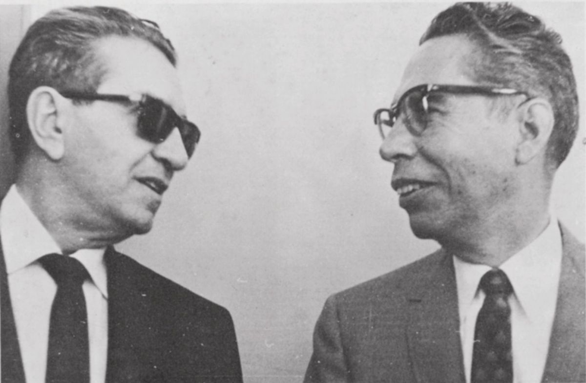 Foto. Izquierda Adolfo López Mateos - Derecha, Gustavo Díaz Ordaz