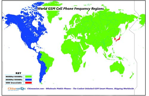 gsm frequency map