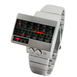Alpha Centauri - All Metal Red LED Watch