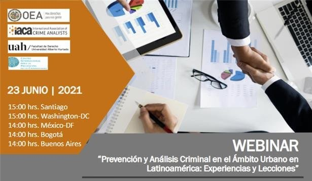 Webinar series on crime prevention and analysis