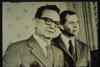 Salvador Allende y Patricio Aylwin