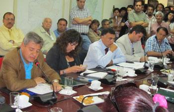 De izq. a der.: Carlos Jara (PPD), Carol Bortnick (PPD), Christian Vittori (DC), Marcelo Torres (RN) y Carlos Richter (RN).