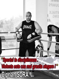 Sportul te disciplineaza. Violenta este cea mai gresita alegere !