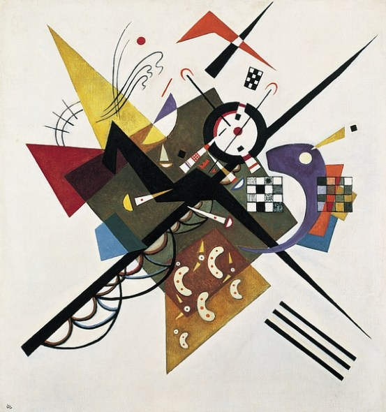 """Kandinski """"En blanco II"""", óleo sobre lienzo, 1923, Centro Pompidou"""