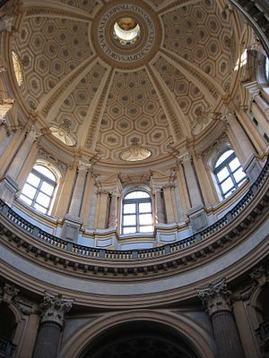 Filippo Juvarra. Interior de la cúpula de la Superga. Turín [foto: wikipedia]