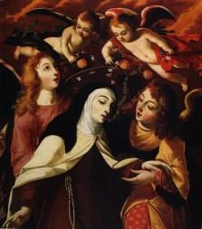 Josefa de Obidos. Escena mística de Santa Teresa.