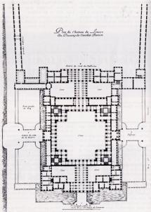 Bernini. Planta del tercer proyecto para el Louvre. 1665