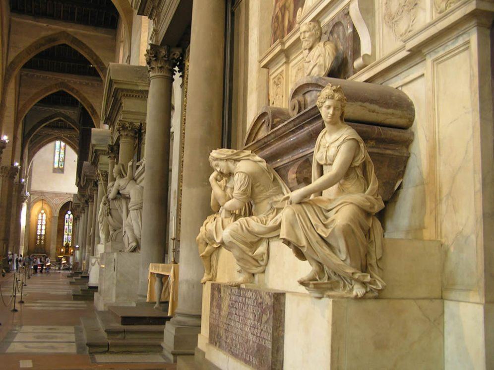 Tumba de Miguel Ángel. Santa Croce. Florencia [foto: