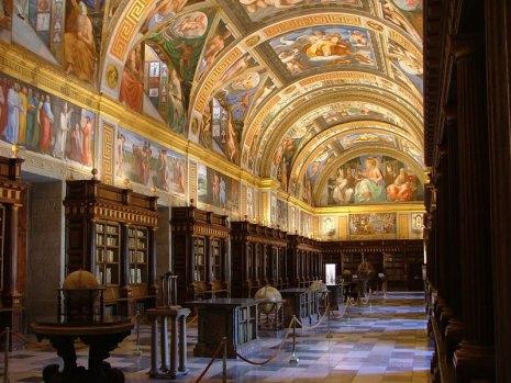 Pelegrino Tibaldi. Pinturas de la biblioteca de El Escorial. Vista general. Foto: Patrimonio Nacional