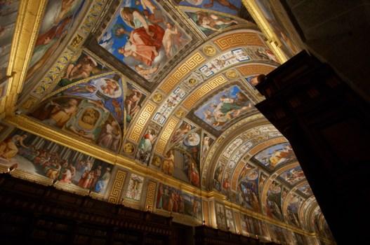 Pelegrino Tibaldi. Techo de la biblioteca de El Escorial. Foto: Patrimonio Nacional.