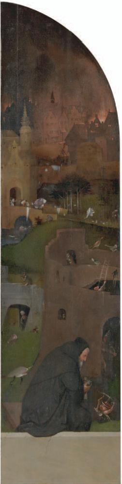 Tríptico de santa Wilgefortis. ca. 1495-1505. Galería de la Academia. Venecia. Detalle tabla izquierda.