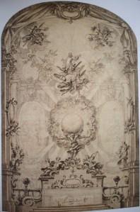 Teodoro Ardemans. Altar con apoteosis de San Francisco (?). British Museum.