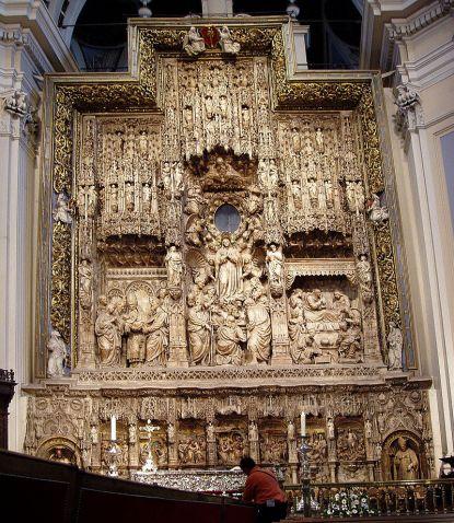 Damián Forment. Retablo de la Asunción de la Virgen. Basílica de el Pilar. Foto: wikipedia.