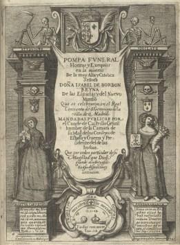Juan de Noort (grab.) Portada del libro de exequias de Isabel de Borbón. 1644.