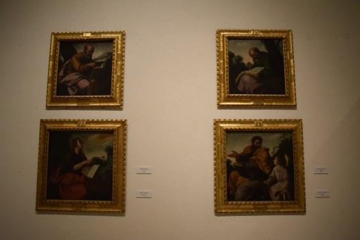 Francisco de Zurbarán. Los cuatro evangelistas, provenientes del Retablo de la Cartuja de Jerez. Museo de Cádiz. Foto: Cipripedia.