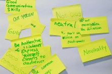 Some ideas on what to expect from a good meeting facilitator.