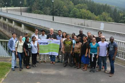 at the Saidenbach dam with Dr. Paul