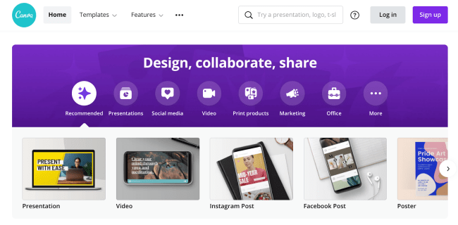 Canva photo editing app for creating an instagram theme
