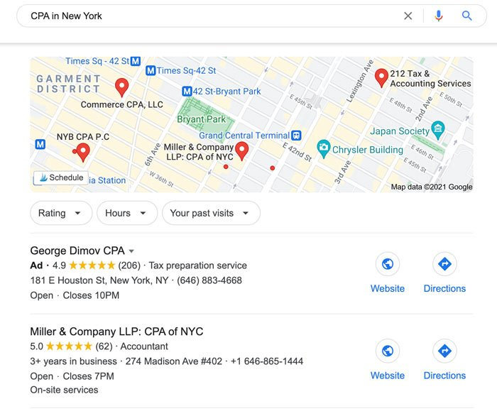 Marketing Tips for Accountants CPAs - Claim Your Google Business Page