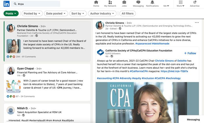 Marketing Tips for Accountants CPAs - create linkedin posts to grow your brand's visibility