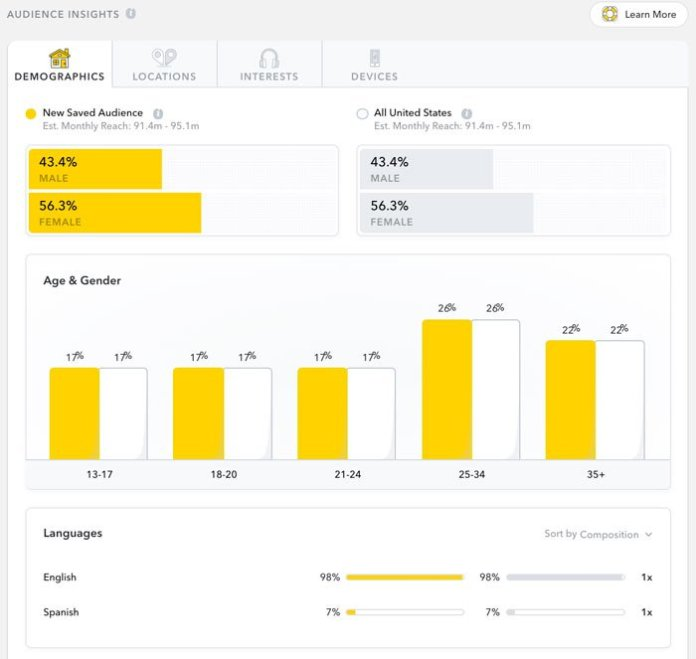 Snapchat Ad Strategies - Use Audience Insights