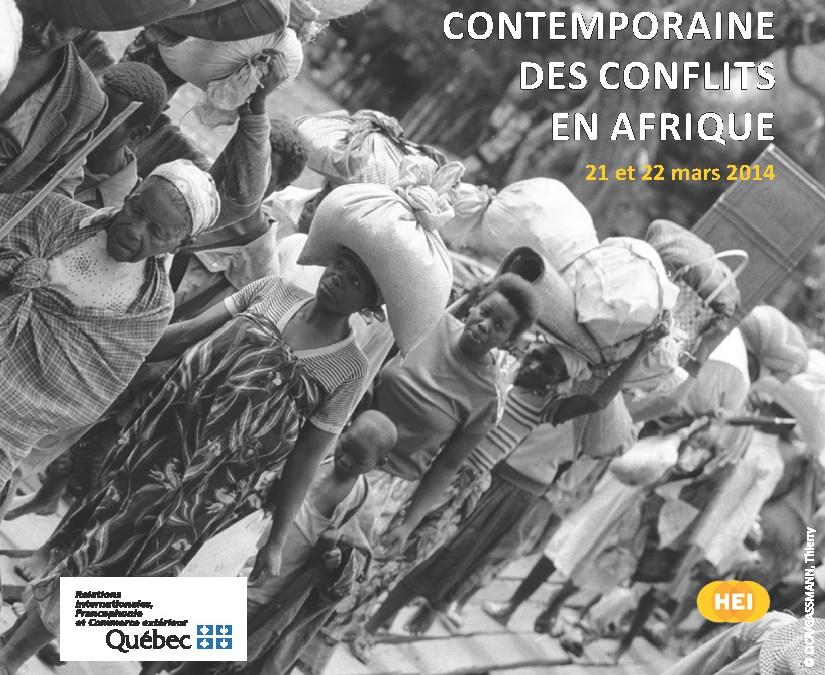 Colloque international: Analyse contemporaine des conflits en Afrique