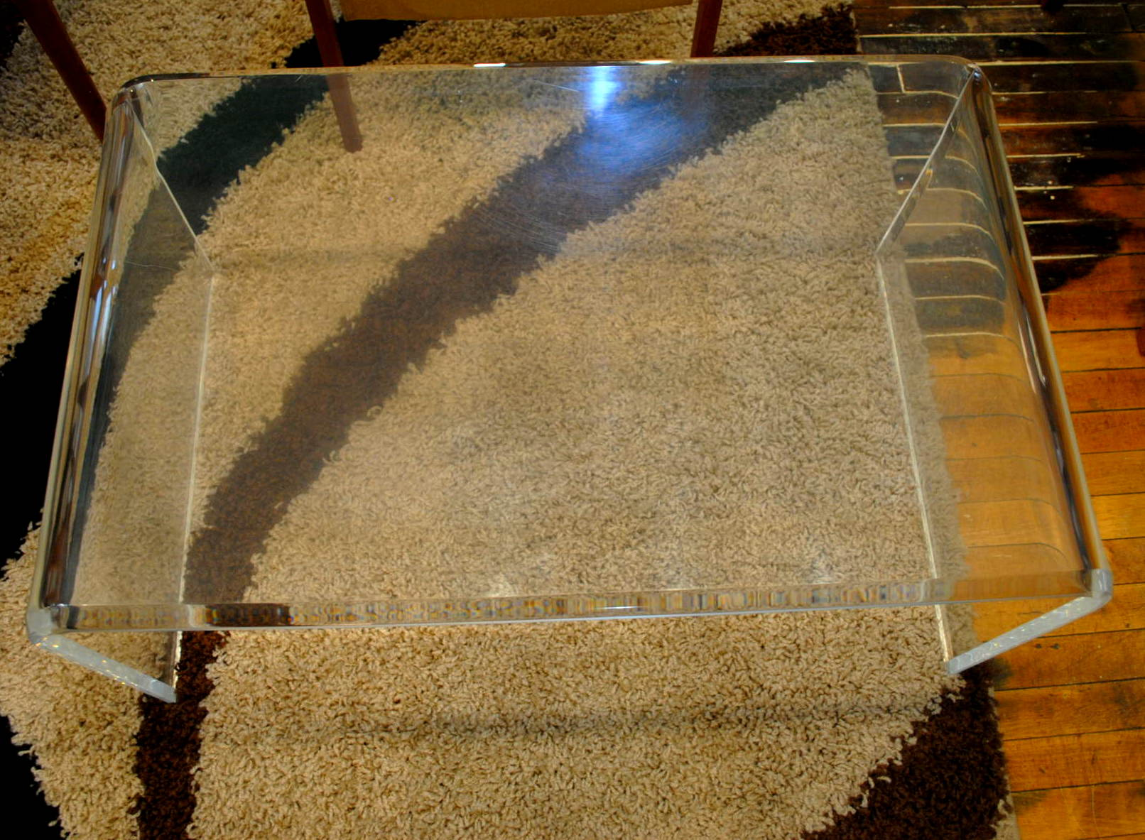 Mid Century Lucite Waterfall Coffee Table