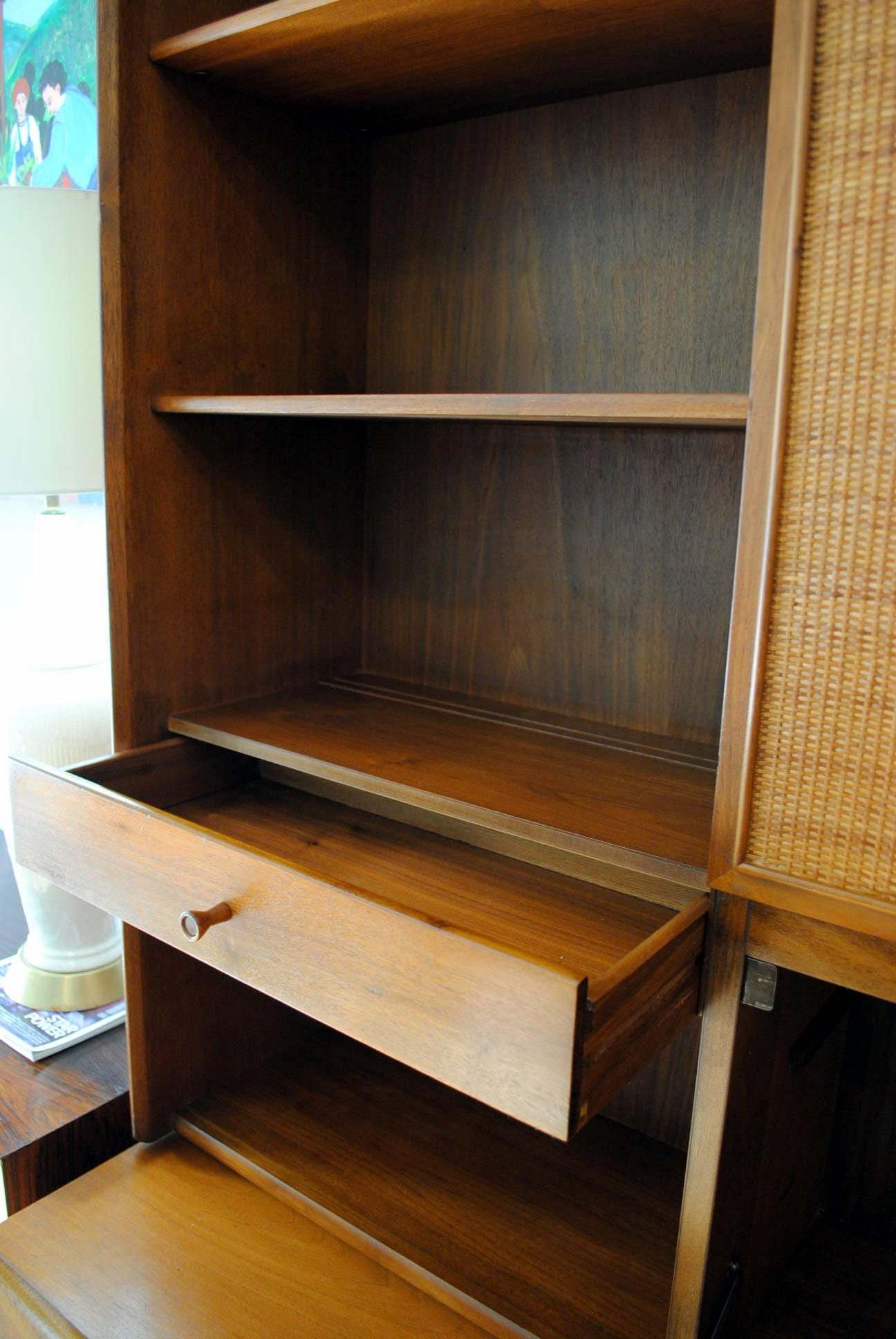 barn with modular bar mini tower pottery sale for cabinet hutch