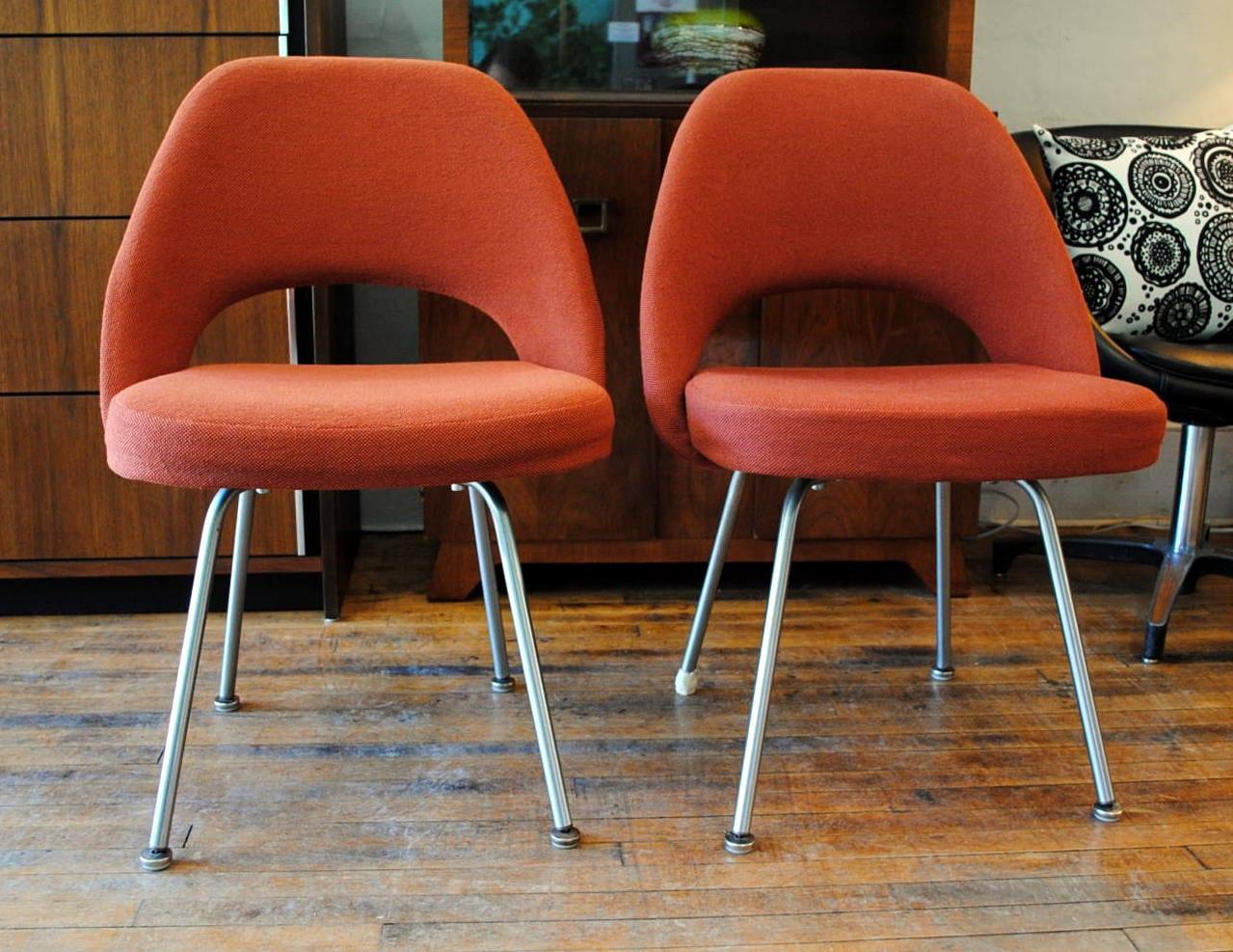 Vintage Knoll Executive Armless Chairs By Eero Saarinen Circa