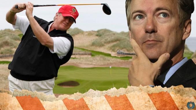 Rand Paul Donald Trump Obamacare Healthcare golf