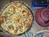 tarte oignons verts