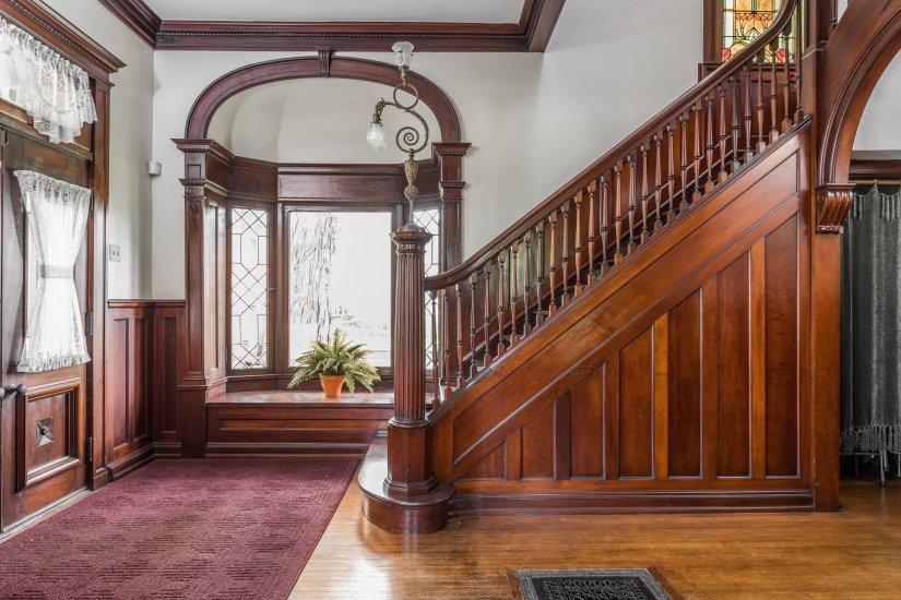 Indiana 1887 Italianate - Spectacular Stairways