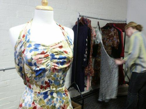 30s floral halter neck gown