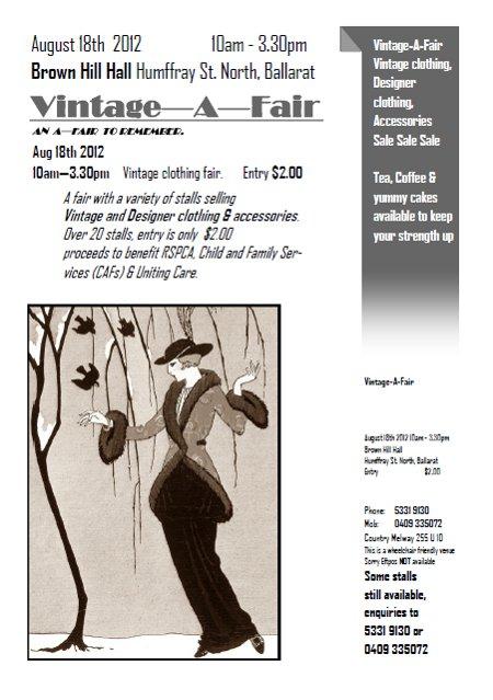 e016fb5536f Vintage-a-Fair Ballarat