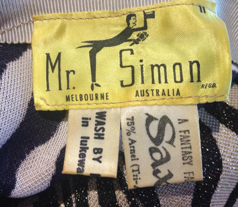 Mr Simon 60s label