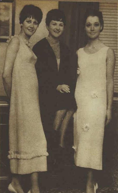 Noeleen and models Aus Womens Weekly 1965