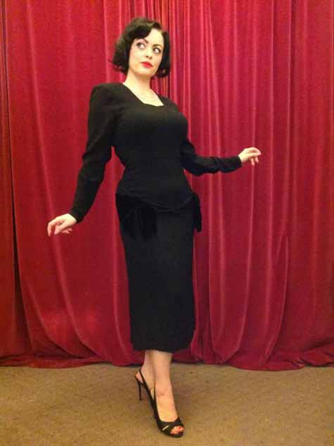 Lucy Secor 40s dress