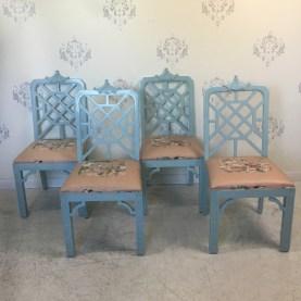 Fretwork Pagoda Chairs