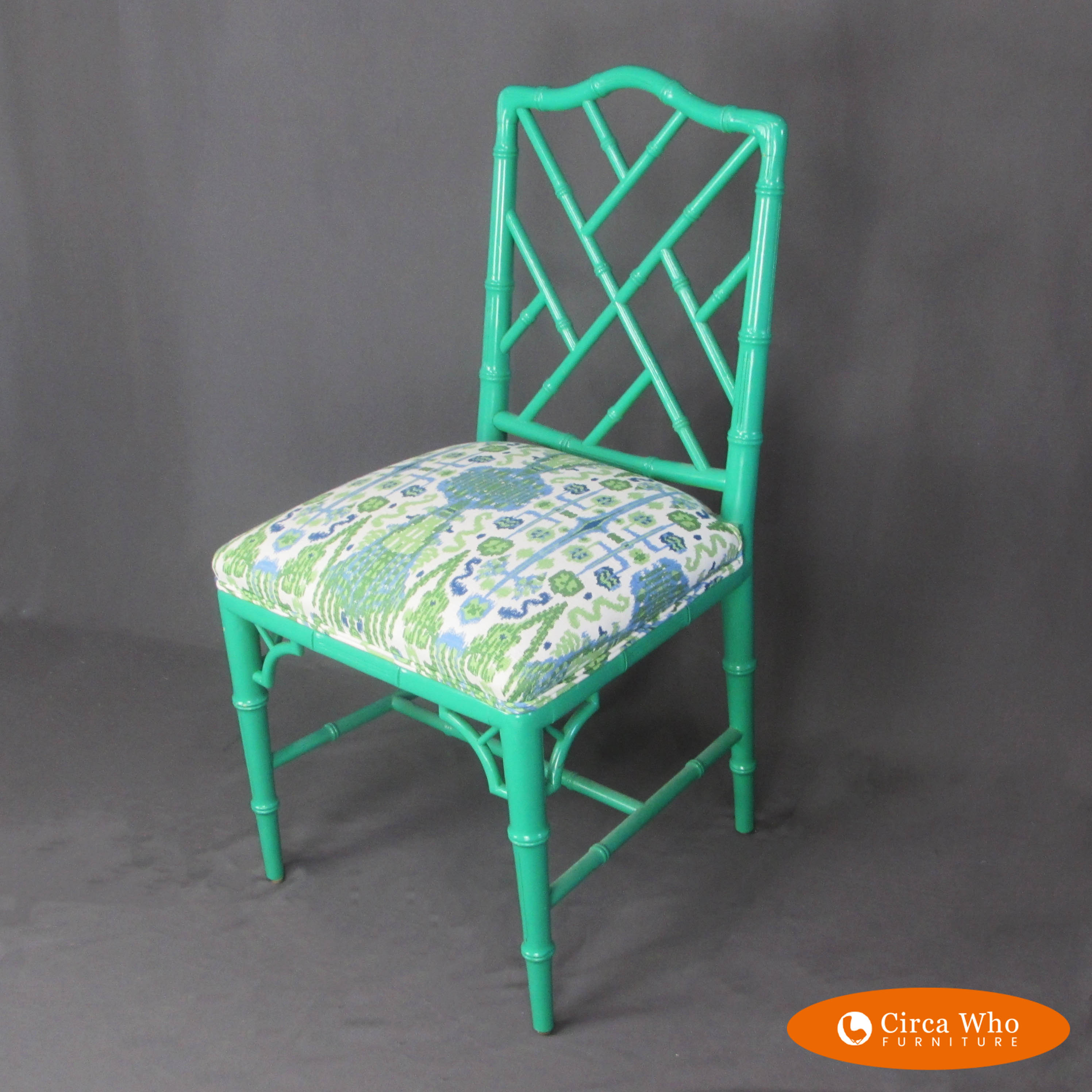 Faux Bamboo Chippendale Style Chair Circa Who