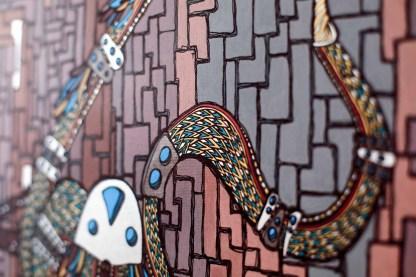 le serpent déssiné par l'artiste Zaar