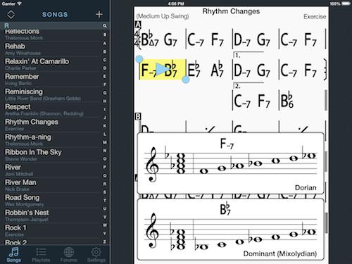iPad chord scales