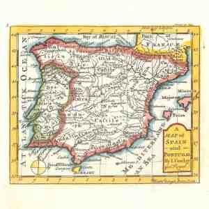 #635 Spain & Portugal, 1746