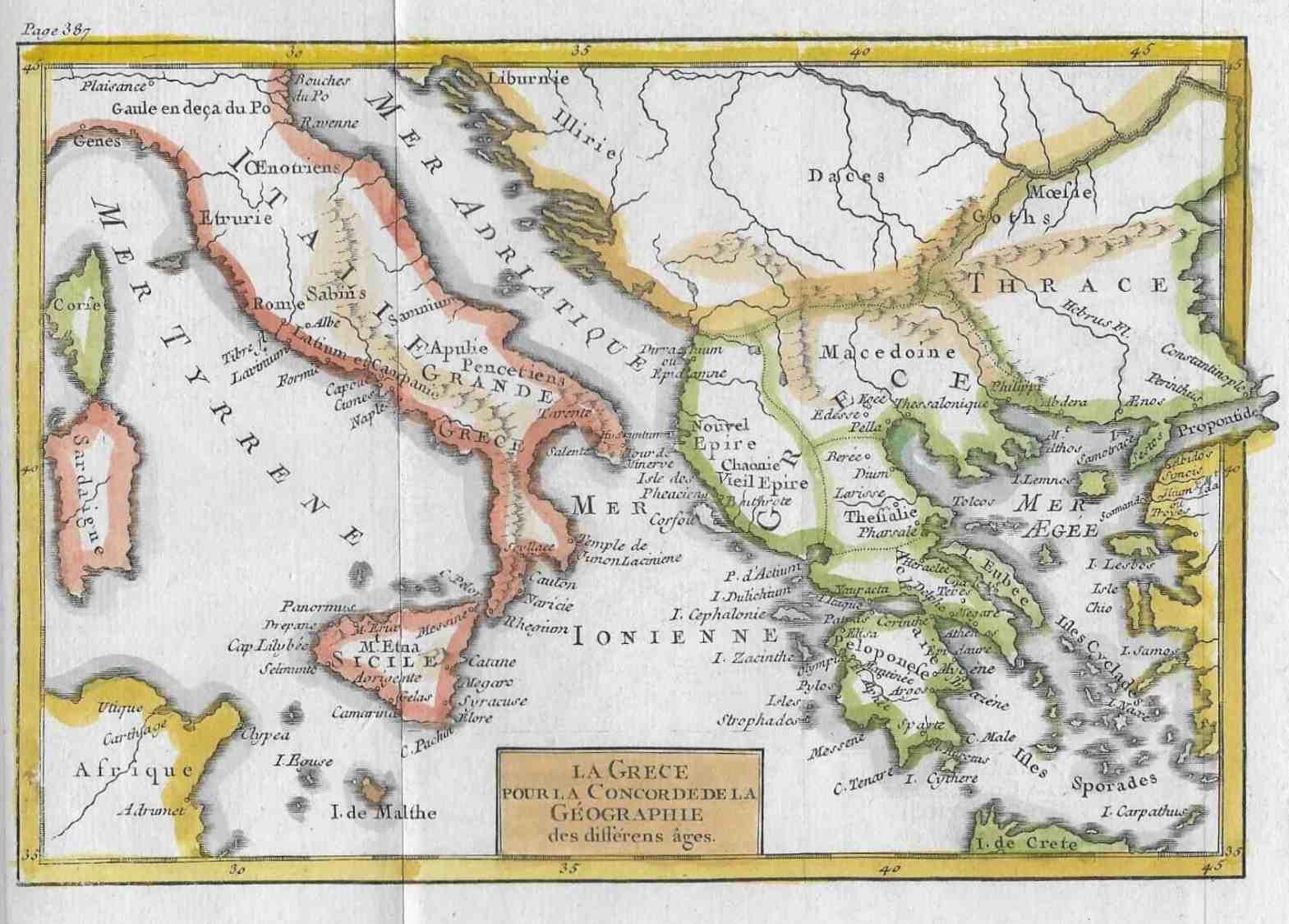 1535 Italy and Greece (ancient), 1785 – Circle 7 Framing