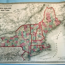 antique map new england